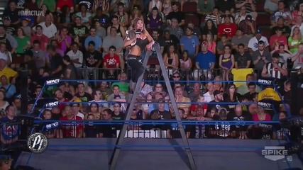 Heel Mickie James on Ladder Promo