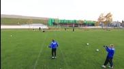 The Football Free Kick Battle