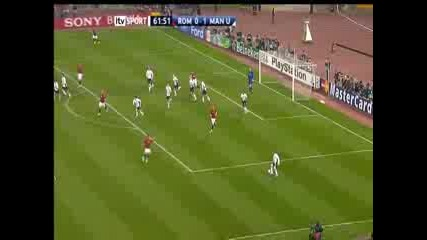 Roma - Man United (van Der Sar Save)