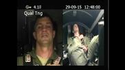 Реакция на летец при натоварване 9 G на тренировка