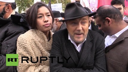 UK: Anti-Modi activists picket Downing Street to protest Indian PM's visit