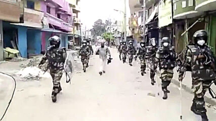 India: RAF units patrol Bengaluru in aftermath of deadly riots