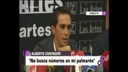 Пресконференцията на Алберто Контадор за решението на Арбитражния съд