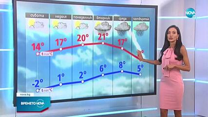 Прогноза за времето (10.04.2021 - централна емисия)