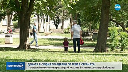 Децата в София са по-здрави от тези в провинцията