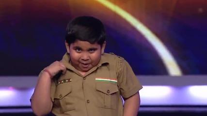 8 годишно Индийче танцува лудо и изправи публиката и журито на крака
