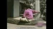Змия Захапва Дете