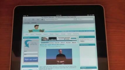 Safari on the Ipad !