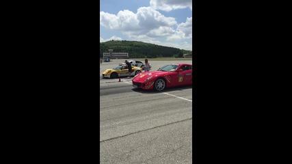 Драг между Lotus Exige Cup R и Ferrari 599 в България!
