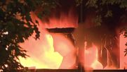 Russia: Sky lit red as fiery blaze decimates furniture factory near Moscow