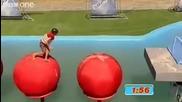 Total Wipeout - Първият победил гумените топки !