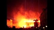 Парламента целия в пламьци
