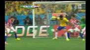 Бразилия 3:1 Хърватия 12.06.2014 световното