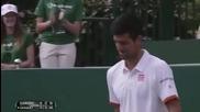 Новак Джокович прави страхотно хващане на тенис топка