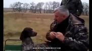 Гледайте на какво могат да научат Руснаците едно ловджийско куче!