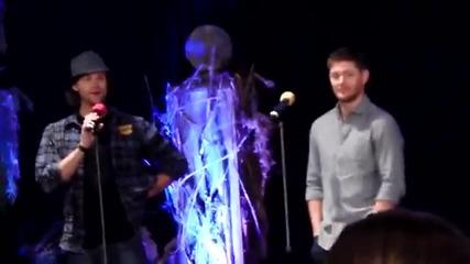Jensen Ackles & Jared Padalecki talking about doing shirtless scenes