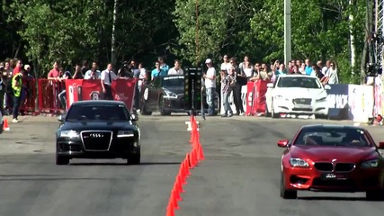 Audi Rs6 Sportmile vs Lamborghini Lp700-4 Aventador vs Bmw M6 F12