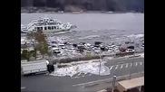 Комбинацията от вълна цунами и река отприщва ада