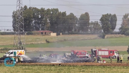 Military Plane Crashes in Spain