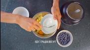 Протеинова ванилова торта от просо с боровинки