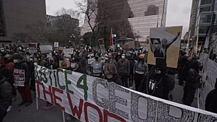 USA: Demonstrators in Minneapolis demand justice for George Floyd amid Chauvin trial