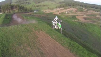 мотокрос от въздуха проба-проба