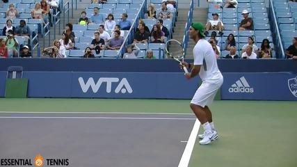 Rafael Nadal crazy baseline drill - forehandbackhand Hd