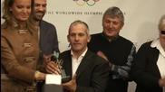 Големите видяха награждаването на Йордан Йовчев с трофей от МОК