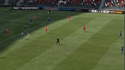 Fifa 12! гол от воле на Франк Рибери!