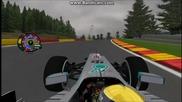 Lewis Hamilton Pole Lap - Belgium Gp 2013 (simulation)
