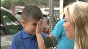 Репортерка разплаква дете когато го пита за първия учебен ден