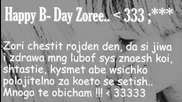 Happy Birthday Zoriiiii ;
