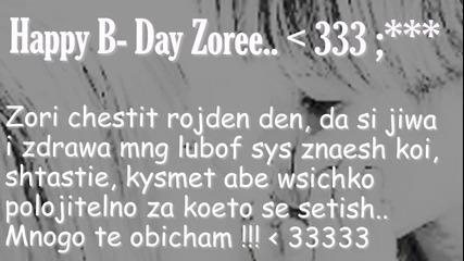 Happy Birthday Zoriiiii ;