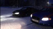 Ски писта, Audi Rs4 и R8 V10