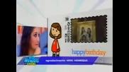 Domingo Legal Dulce Maria ganha bolo e homenagem de aniversario