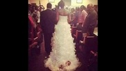 Bride Ties Baby to Back of Wedding Dress and Drags Newborn Down the Aisle
