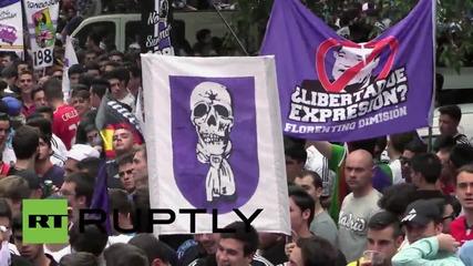 Феновете на Реал Мадрид преди мача с Ювентус