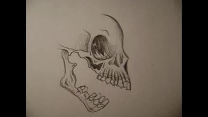Как да си нарисуваме череп