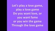 Lady Gaga - Love Game (текст)