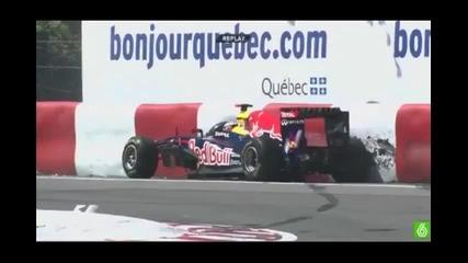 F1 Канада - Фетел отпада от Fp1 2011