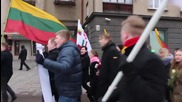 Lithuania: Far-right activists bemoan refugees in Kaunas on Independence Day