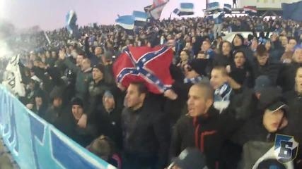 Сектор Б пирува (ultras Levski on derby with cska)