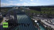 Франция: Дрон засне откриването на най-големият воден парк в Европа