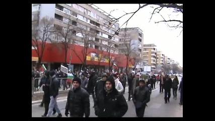 Протест срещу високите сметки за ток - Варна - 16.02.2013 година