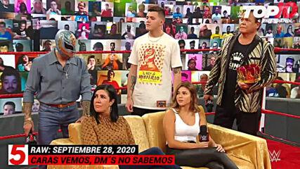 Top 10 Mejores Momentos de Raw En Español: WWE Top 10, Sep 28, 2020