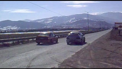 Subaru Impreza 4x4 vs. Opel Vektra C20let 4x4