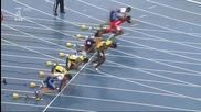 Болт шокира света с фалстарт във финала на 100 м.