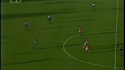 Футбол Аржентина - България 1994 - Второ полувреме - Част 1/4 (високо качество)