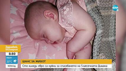 ШАНС ЗА ЖИВОТ: 100 000 евро са нужни за спасяването на 5-месечната Димана