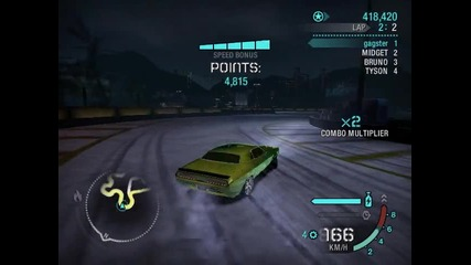 Need For Speed Carbon Drifting With Dodge Challenger